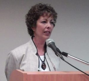 Mary Sue opening the first Houston meeting of Texas Voices in May 2010