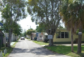 Entrance to the mobile home park of Florida Justice Transitions