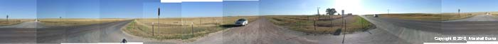 Panoramic photomontage of Nebraska countryside, September 30, 2010